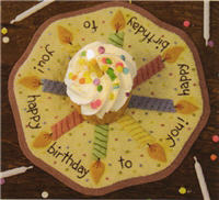 Bareroots Birthday candle mat